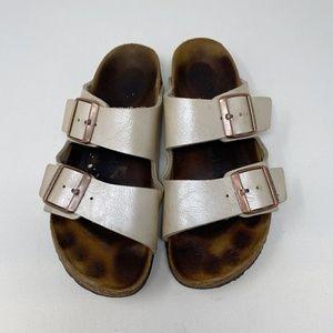 BIRKENSTOCK Arizona Metallic Soft Footbed Sandals